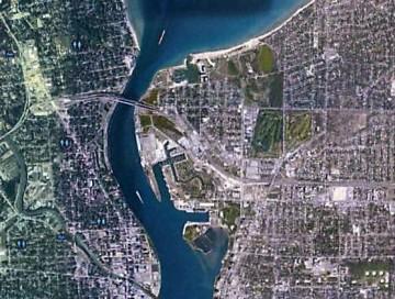 St. Clare River Port Huron, Michigan